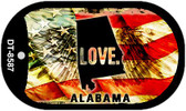 "Alabama Love Flag Dog Tag Kit 2"" Wholesale Metal Novelty Necklace"