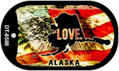 "Alaska Love Flag Dog Tag Kit 2"" Wholesale Metal Novelty Necklace"
