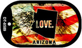 "Arizona Love Flag Dog Tag Kit 2"" Wholesale Metal Novelty Necklace"