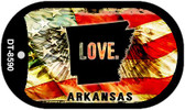 "Arkansas Love Flag Dog Tag Kit 2"" Wholesale Metal Novelty Necklace"