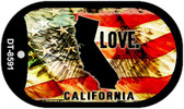 "California Love Flag Dog Tag Kit 2"" Wholesale Metal Novelty Necklace"