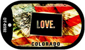 "Colorado Love Flag Dog Tag Kit 2"" Wholesale Metal Novelty Necklace"