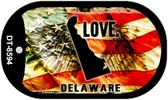 "Delaware Love Flag Dog Tag Kit 2"" Wholesale Metal Novelty Necklace"