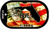 "Florida Love Flag Dog Tag Kit 2"" Wholesale Metal Novelty Necklace"