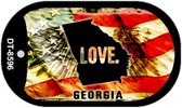 "Georgia Love Flag Dog Tag Kit 2"" Wholesale Metal Novelty Necklace"