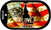 "Idaho Love Flag Dog Tag Kit 2"" Wholesale Metal Novelty Necklace"
