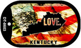 "Kentucky Love Flag Dog Tag Kit 2"" Wholesale Metal Novelty Necklace"