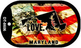 "Maryland Love Flag Dog Tag Kit 2"" Wholesale Metal Novelty Necklace"