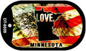 "Minnesota Love Flag Dog Tag Kit 2"" Wholesale Metal Novelty Necklace"