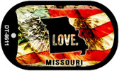 "Missouri Love Flag Dog Tag Kit 2"" Wholesale Metal Novelty Necklace"