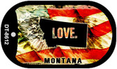 "Montana Love Flag Dog Tag Kit 2"" Wholesale Metal Novelty Necklace"