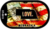 "Nebraska Love Flag Dog Tag Kit 2"" Wholesale Metal Novelty Necklace"