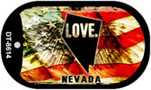 "Nevada Love Flag Dog Tag Kit 2"" Wholesale Metal Novelty Necklace"