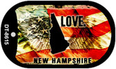 "New Hampshire Love Flag Dog Tag Kit 2"" Wholesale Metal Novelty Necklace"