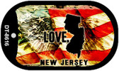 "New Jersey Love Flag Dog Tag Kit 2"" Wholesale Metal Novelty Necklace"