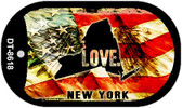 "New York Love Flag Dog Tag Kit 2"" Wholesale Metal Novelty Necklace"