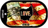 "Ohio Love Flag Dog Tag Kit 2"" Wholesale Metal Novelty Necklace"