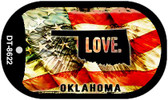 "Oklahoma Love Flag Dog Tag Kit 2"" Wholesale Metal Novelty Necklace"