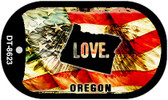 "Oregon Love Flag Dog Tag Kit 2"" Wholesale Metal Novelty Necklace"