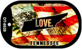 "Tennessee Love Flag Dog Tag Kit 2"" Wholesale Metal Novelty Necklace"
