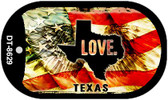 "Texas Love Flag Dog Tag Kit 2"" Wholesale Metal Novelty Necklace"