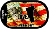 "Vermont Love Flag Dog Tag Kit 2"" Wholesale Metal Novelty Necklace"