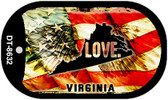 "Virginia Love Flag Dog Tag Kit 2"" Wholesale Metal Novelty Necklace"