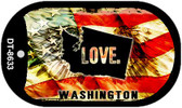 "Washington Love Flag Dog Tag Kit 2"" Wholesale Metal Novelty Necklace"