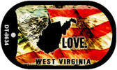 "West Virginia Love Flag Dog Tag Kit 2"" Wholesale Metal Novelty Necklace"