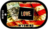 "Wyoming Love Flag Dog Tag Kit 2"" Wholesale Metal Novelty Necklace"