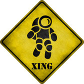 Astronaut Xing Novelty Metal Crossing Sign Wholesale