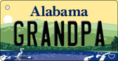 Grandpa Alabama Background Key Chain Metal Novelty Wholesale