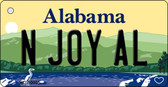 N Joy AL Alabama Background Key Chain Metal Novelty Wholesale