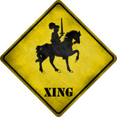 Knight on Horse Xing Novelty Metal Crossing Sign Wholesale