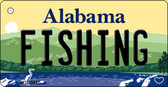 Fishing Alabama Background Key Chain Metal Novelty Wholesale
