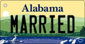 Married Alabama Background Key Chain Metal Novelty Wholesale