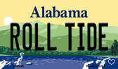 Roll Tide Alabama State Background Magnet Novelty Wholesale M-9995