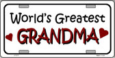 World's Greatest Grandma Wholesale Metal Novelty License Plate LP-273
