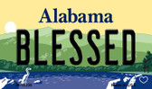 Blessed Alabama State Background Magnet Novelty Wholesale
