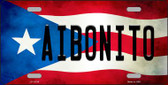 Aibonito Puerto Rico Flag Background License Plate Metal Novelty Wholesale LP-11319