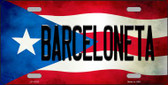 Barceloneta Puerto Rico Flag Background License Plate Metal Novelty Wholesale