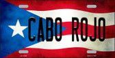 Cabo Rojo Puerto Rico Flag Background License Plate Metal Novelty Wholesale LP-11326