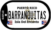 Barranquitas Puerto Rico Flag Dog Tag Kit Wholesale Metal Novelty Necklace