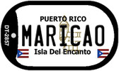 Maricao Puerto Rico Flag Dog Tag Kit Wholesale Metal Novelty Necklace