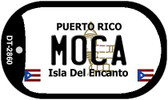 Moca Puerto Rico Flag Dog Tag Kit Wholesale Metal Novelty Necklace