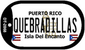 Quebradillas Puerto Rico Flag Dog Tag Kit Wholesale Metal Novelty Necklace
