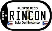 Rincon Puerto Rico Flag Dog Tag Kit Wholesale Metal Novelty Necklace