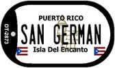 San German Puerto Rico Flag Dog Tag Kit Wholesale Metal Novelty Necklace