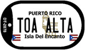 Toa Alta Puerto Rico Flag Dog Tag Kit Wholesale Metal Novelty Necklace