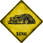 Classic Hot Rod Xing Novelty Metal Crossing Sign Wholesale